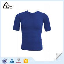 T-shirt sem emenda do ajuste do sportswear do homem