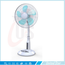 16-Zoll-Solar-Kunststoff-Standventilator, wiederaufladbare LED-Lüfter (USDC-463)