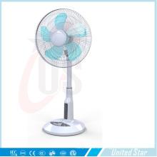 Ventilador plástico solar do suporte de 16 polegadas, ventilador recarregável do diodo emissor de luz (USDC-463)