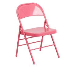 Cadeira de aço de dobramento vermelha de alta qualidade da chapa de aço para a parte externa