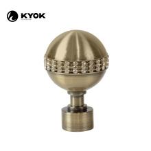 KYOK new design iron finials antique brass glod curtain rod finials metal black