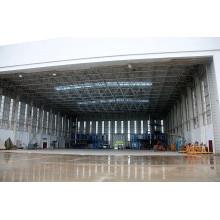 Marco espacial para el hangar de aeronaves
