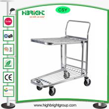Large Wheels Warehouse Hand Push Trolley Tool Cart