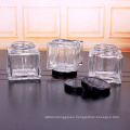 unique square 200ml glass honey jars container with metal lids