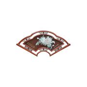 Fläkten form antik klar träsnideri dekoration bild