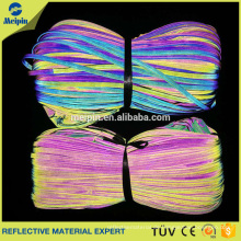 Herstellung guter Preis hohe Sichtbarkeit gute Qualität reflektierende PVC-Kern-Paspelband für Kleidung und Taschen