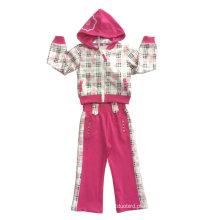 Terno do velo da menina da forma no desgaste do esporte da roupa das crianças (SWG-119)