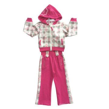 Fashion Girl Fleece Suit in Children Clothing Sport Wear (SWG-119)