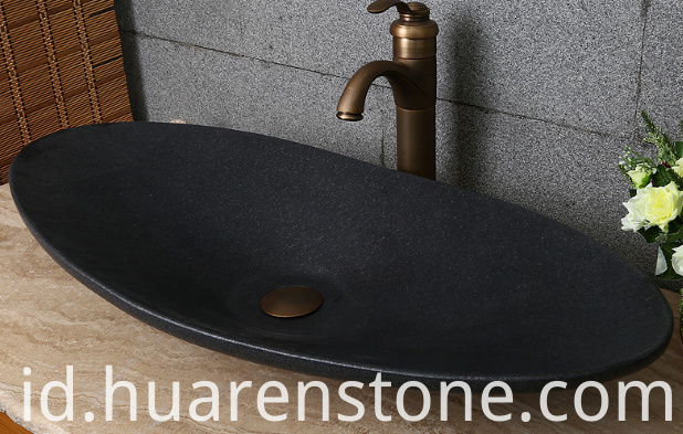 Black Granite Bathroom Sink