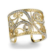 Jóias de pulseira de punho de prata esterlina 925 com ouro banhado a ouro