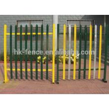 Дешевые кованого железа копья верхний стальной частокол панели ограждения безопасности