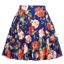 Kate Kasin Niñas Falda A Espejidad Alta Estirada A-Line Falda Floreada Imprimir Floral KK000294-1