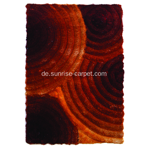 Polyester Rot & Orange Farbe 3D Teppich