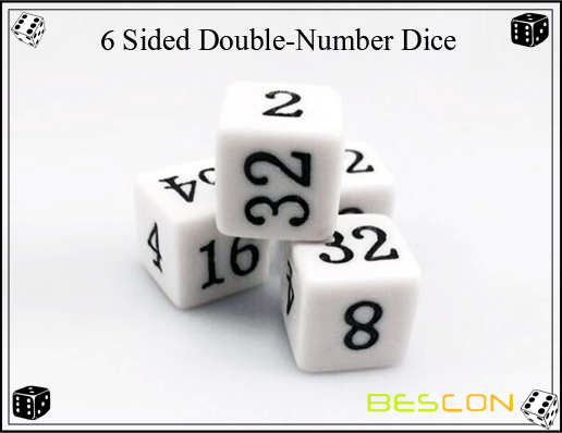 6 Sided Double-Number Dice