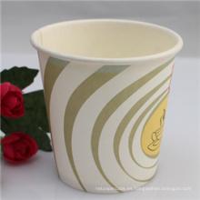 Taza de café de papel disponible impresa logotipo personalizado