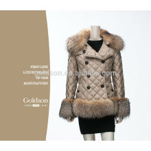 Fashional OEM Women Goose Down Jacket / Fox Fur Down Coat pour l'hiver