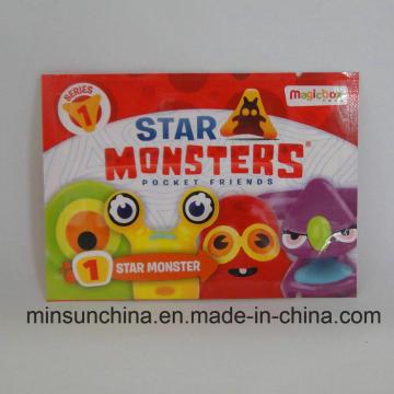 Empaquetado impreso del juguete 3 bolsa lateral del sello con el rasgón