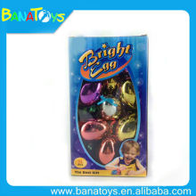 Funny gold plating plastic christmas balls egg