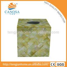Golden Lip madrepérola shell tecido caixa para decoração de casa