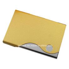 Amarelo Cartão De Visita Caixa De Couro Titular De Cartão