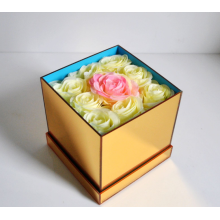 Acrylic Gold Mirror Gift Box For Flower