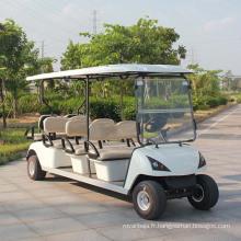 Voiturette électrique de golf de puissance de batterie avec 8 places (DG-C6 + 2)