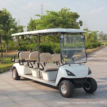 Bus touristique de 4 + 2 voiturette de golf électrique dans l'endroit pittoresque (DG-C6 + 2)