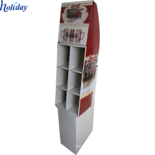Stable beverage soda bottle floor display rack