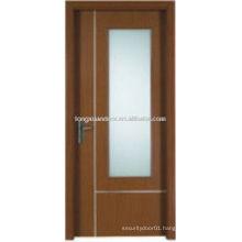 Wood PVC door with glass