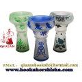 Diseñado especial cachimba grande Multicolor cabeza cerámica con la impresión
