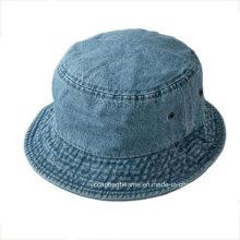 Promocional de alta qualidade personalizado em branco Jean Bucket Hat