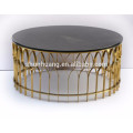 Modern coffee table China stainless steel table round coffee table