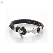 2017 Newest Fashion Design Anchor Leather Bracelet