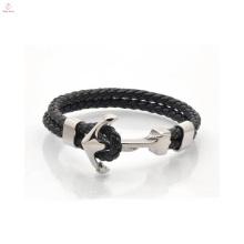 2017 mais novo design de moda pulseira de couro de âncora