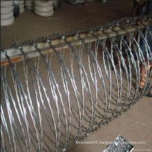 BTO-28 electro galvanized razor wire(factory and supplier)