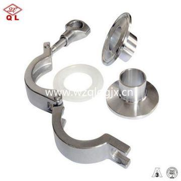 Fabricado na China Acessórios para tubos de aço inoxidável Braçadeira para tubos sanitários