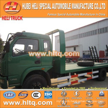 DONGFENG brand flat bed truck 120hp 4X2 good quality and best selling made in China for export.