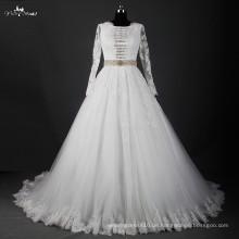 RSW827 Späteste Braut der schönen langen Hülsen-moslemischen Hochzeits-Kleider Abbildungen 2016 und Brautkleid