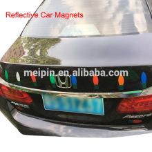 Pegatinas magnéticas reflectantes del coche