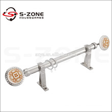 Silent sliding round metal aluminum stainless steel curtain pole accessories