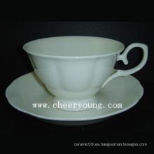Taza y platillo de China de hueso (CY-B544)