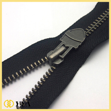Custom Svart Nickel Tänder No.5 Metal Zipper