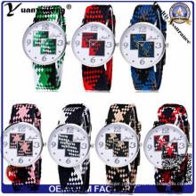 As senhoras de nylon do relógio do projeto Yxl-203 novo vestem relógios de pulso tecidos do relógio do bracelete de Nato