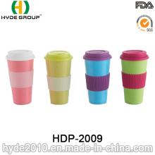 Tasse de café en fibre de bambou organique colorée promotionnelle 2016 (HDP-2009)
