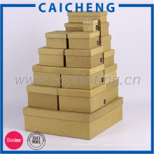 Luxury corrugated paper gift box for packaging with custom printing