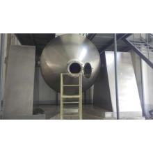 Rotary vacuum dryer for dry visous raw material