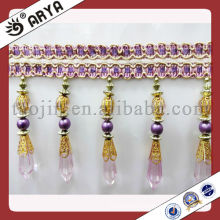 Acrylic bead trims,decorative beaded fringe