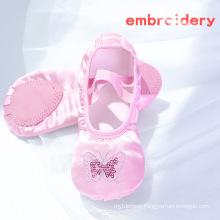 Flats Elastic Ballet Shoes Satin Ballet Shoes Embroider Dance Shoes