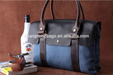 Vintage and rero canvas bag/Unisex leather leisure bag/Washed canvas bag/big tote/crossbody bag