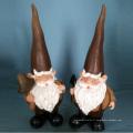 Nain de chapeau de pointe avec décoration de décor de gnome de jardin de bienvenue